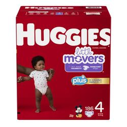 Huggies Diapers Size 4 Nuevos en Caja / 186pcs Firm Price / Pickup Only for Sale in Los Angeles,  CA