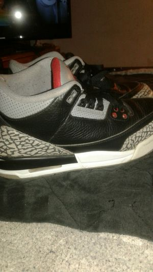 Jordan3 black comment for Sale in Fort Worth, TX