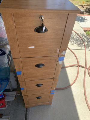 File cabinet with key for Sale in Chula Vista, CA