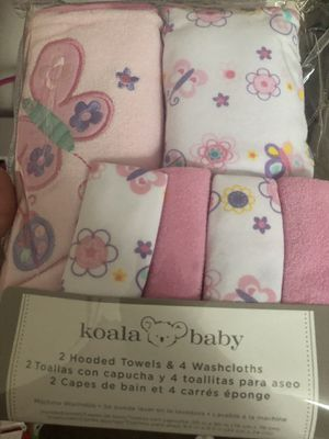 Baby towels + wash cloths for Sale in Boston, MA