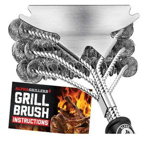 Grill Brush Bristle Free. Best Safe Cleaner with Extra Wide Scraper. for Sale in Henderson, NV