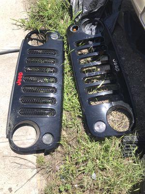 2017 Jeep Wrangler grill parts stunts shocks stock gears for Sale in Tujunga, CA
