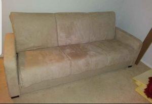MICROFIBER SOFA BED IN GOOD CKNDITION for Sale in Pompano Beach, FL