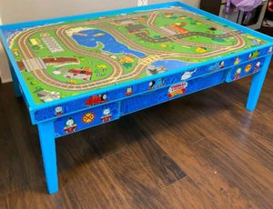 Thomas & Friends Wooden Railway Island of Sodor Train Table with Trains, Wooden Tracks, and Accessories for Sale in Suwanee, GA