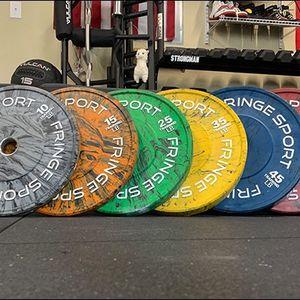 35lb Fringe Sport Bumper Plate Set for Sale in Fort Myers, FL