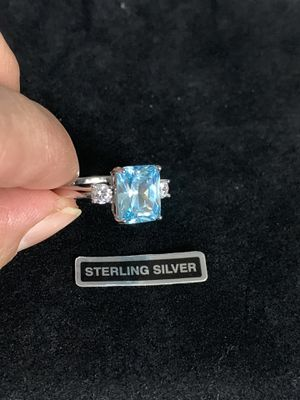 Sterling Silver Blue Topaz CZ for Sale in Quincy, IL