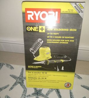 NEW RYOBI 18-Volt ONE+ 40-Watt Soldering Iron (Tool-Only) for Sale in St. Petersburg, FL