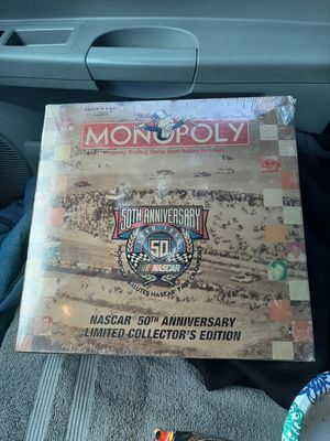 NASCAR Edition 50th Anniversary Monopoly game. Never opened for Sale in Riverside, CA