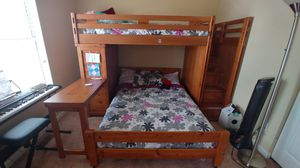 Twin/full bunk with storage and desk for Sale in Columbia, SC