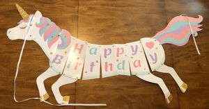 Unicorn Birthday Decoration - Used for Sale in Fontana, CA