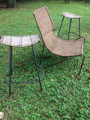 Route iron worker and rattan seating for Sale in Nashville, TN