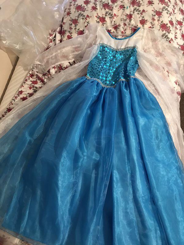 Elsa new never used costume dress, size 10-12