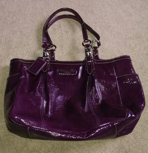 COACH Patent Leather Plum Handbag for Sale in Severn, MD