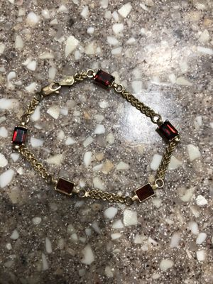 14kt gold ruby bracelet for Sale in Los Banos, CA