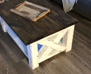 Farmhouse Rustic Coffee Table Solid for Sale in Spring, TX