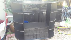Black wood Entertainment center for Sale in Bartow, FL