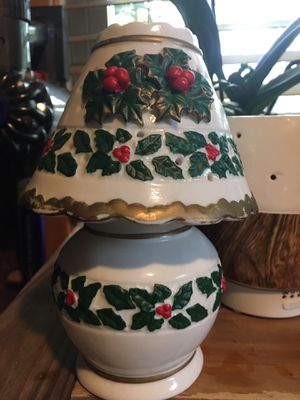 Vintage Christmas Holly Candle Holder for Sale in Barnstable, MA
