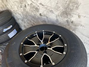 4x ST trailer tire 225x75 -15 10ply with aluminum wheel $650 for Sale in Rancho Cucamonga, CA