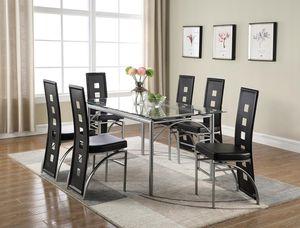 DINING SET 7-pcs NEW IN BOX TABLE WITH 6 chairs JUEGO DE COMEDOR NUEVO EN SU CAJA MESA Y 6 SILLAS for Sale in Miami, FL