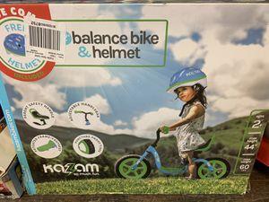 Balance bike& helmet for Sale in Lavonia, GA
