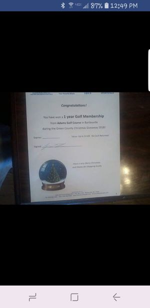 One year golf membership for Sale in Bartlesville, OK