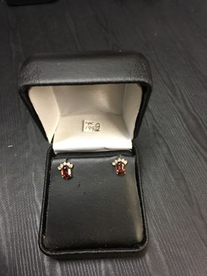 14k yellow gold diamond and ruby earrings for Sale in Bakersfield, CA