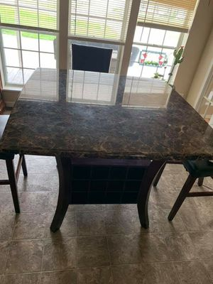 Marble table with chairs for Sale in Mount Pleasant, MI