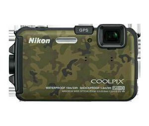 Nikon Coolpix AW100 16 Megapixel Underwater Compact Camera - Camouflage for Sale in Detroit, MI
