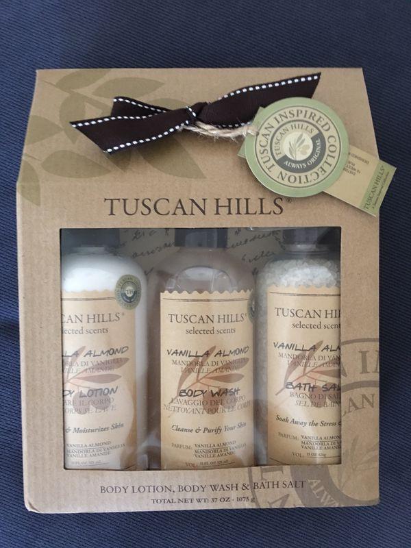 Tuscan Hills Body Lotion, Body Wash & Bath Salt