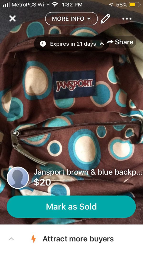 Used Jansport Clean Backpack