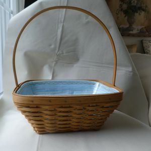 Longaberger Hand Woven Basket Lined With Plastic Insert for Sale in Fallston, MD