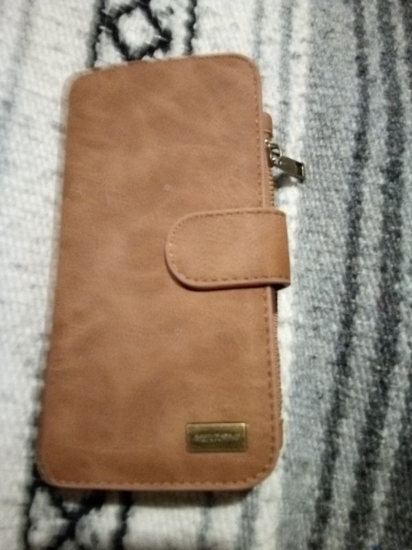Leather Zipper Multi-Functional Cell phone removeable leather cell case