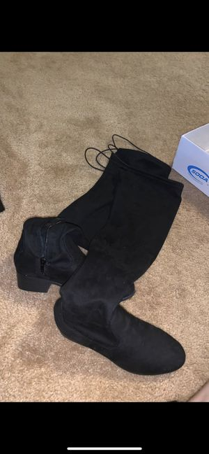 black thigh boots for Sale in Chicago, IL
