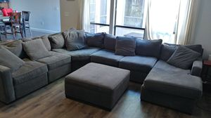 Sectional -7 pieces (couch w/storage ottoman) for Sale in Palm Harbor, FL