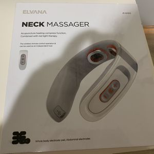 Neck Massager with Massage Patch, Joyroom Infrared Neck and Shoulder Massager for Pain Relief, 6 Modes 15 Levels Relax Massager with Heat Cordless Nec for Sale in Newark, CA