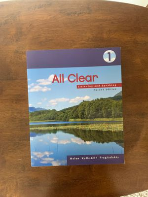All clear 1 listening and speaking second edition helen kalkstein fragiadakis for Sale in Westminster, CA