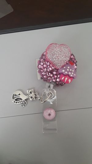 heart/cupcake id badge holder for Sale in Fresno, CA