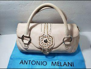 Antonio Melani cream Nubuck Leather Studded Purse Shoulder Bag for Sale in San Antonio, TX