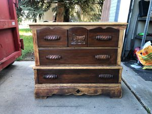 Western rustic wood dresser for Sale in Arvada, CO