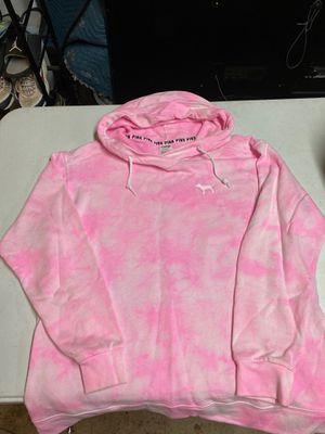 Victoria secret pink tie die hoodie size medium for Sale in Huntington Beach, CA