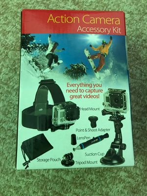 GoPro extension Pack tripods head mount suction cup GoPro accessory kit for Sale in Hopkinton, NH