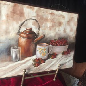 Vintage oil painting signed Jerry Turrill L17xH13xD1 inch Lbs 1.3 Excellent vintage condition for Sale in Chandler, AZ