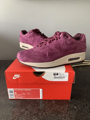 BRAND NEW! Nike Air Max 1 BordeauxSize 9 for Sale in Owings Mills, MD