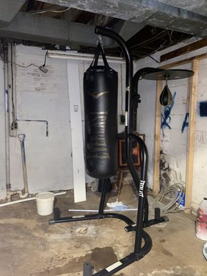 Everlast punching bag with stand and speed bag. for Sale in Riverdale, MD