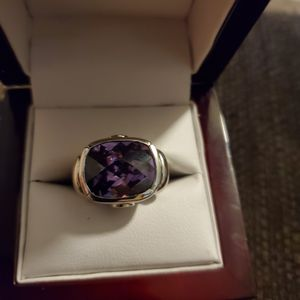 Amethyst & 925 Silver ring size 8 for Sale in Chesterfield, VA