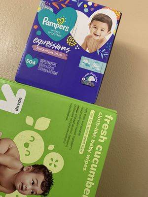 Up & Up and pampers wipes for Sale in Corona, CA