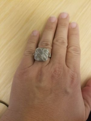 Fossilized Coral And Sterling Silver Ring 8.5 for Sale in Humble, TX