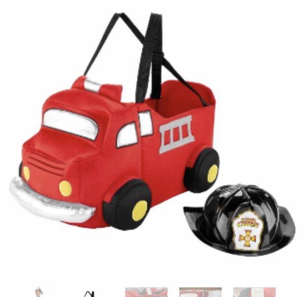 Halloween costume - Fire truck with helmet