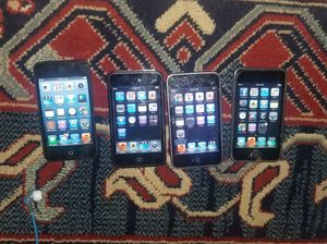 4 Apple Ipod Touches two are 32GB & two are 16GB for Sale in Arlington, VA
