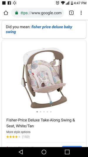 Fisher price deluxe take along swing for Sale in Houston, TX